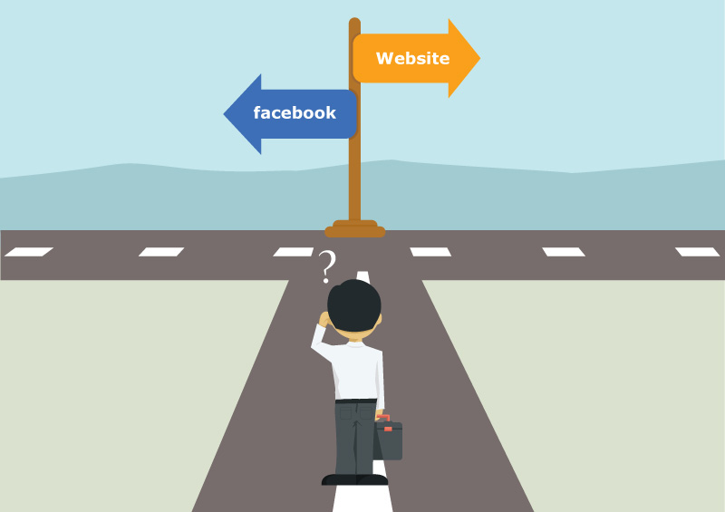 a facebook page is not an alternative to a website