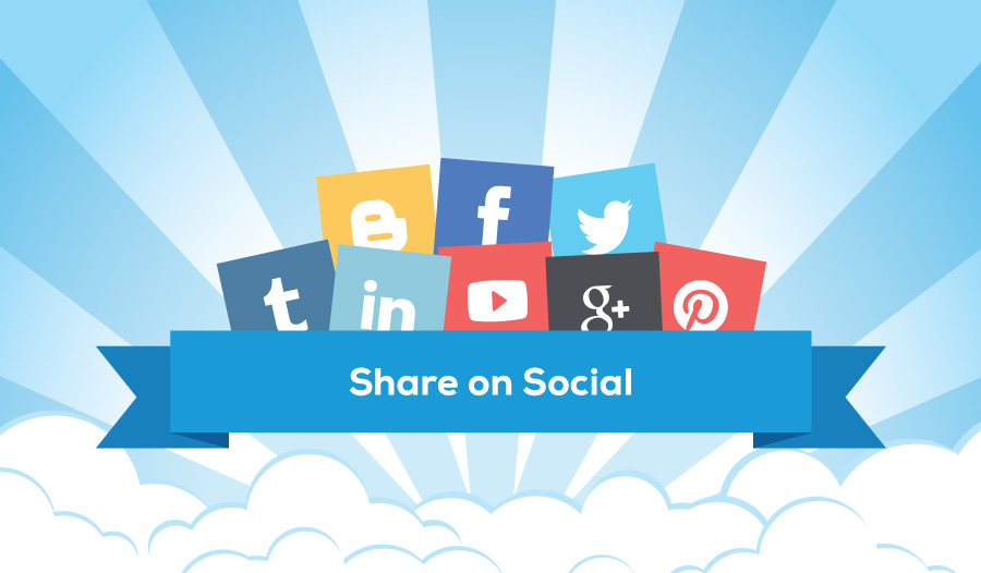 After you publish a blog post: Share on Social